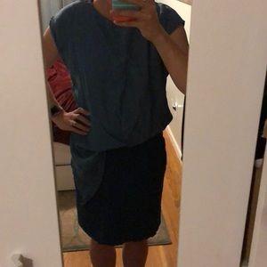Two-toned Denim dress